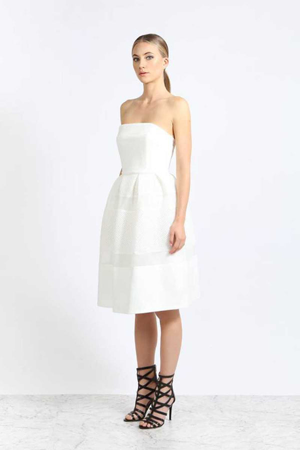 Elliatt Underworld Strapless Skater Dress White - Talis Collection