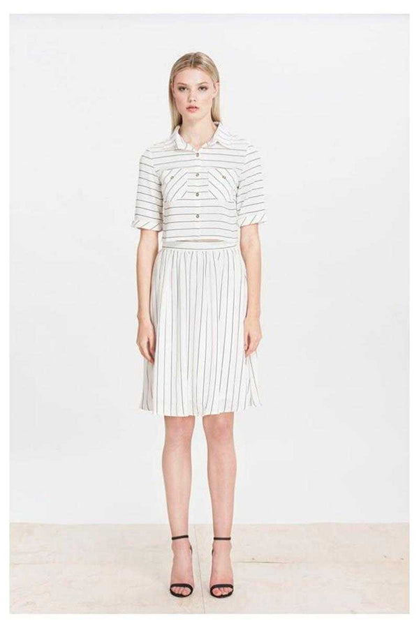 Elliatt Evolution Striped Work Skirt - Talis Collection