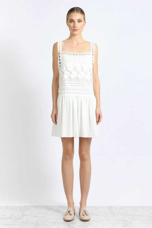 Elliatt Aphtodite Lace Cut Out Mini Dress White - Talis Collection