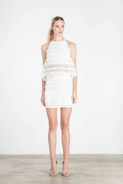 Elliatt Canvas Skirt White - Talis Collection