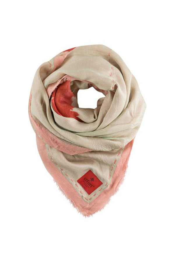 Erfurt Silk Modal Flower Scarf Powder Pink - Talis Collection