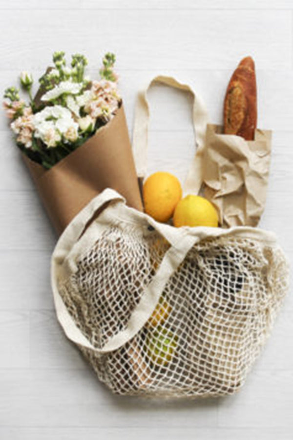 Ever Eco Organic Cotton Net Tote Bag - Long Handle - Talis Collection
