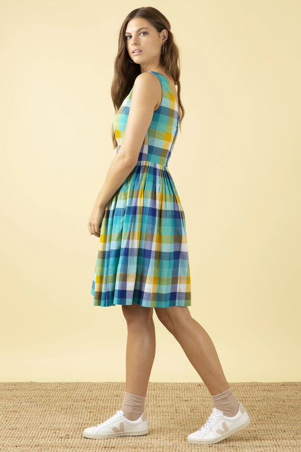 Emily and Fin Abigail Dress Cote D'azur Plaid