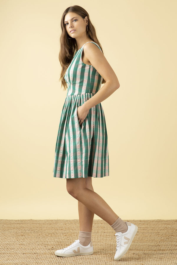 Emily and Fin Abigail Dress Botanical Plaid