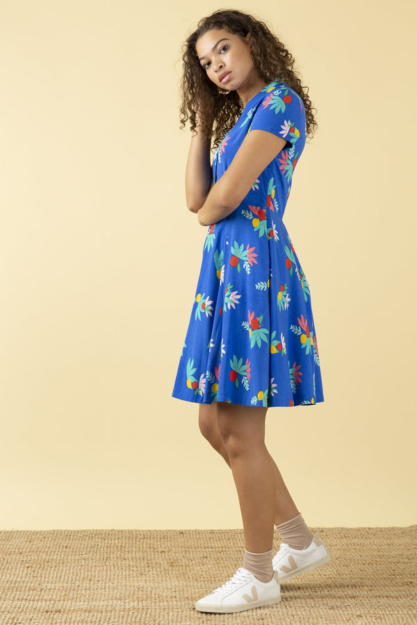 Emily and Fin Adele Short Dress Blue Summer Fruits PRE-ORDER