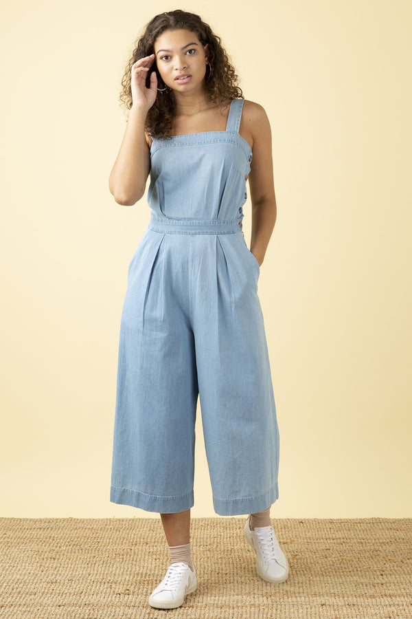 Emily and Fin Bella Jumpsuit Bleach Denim