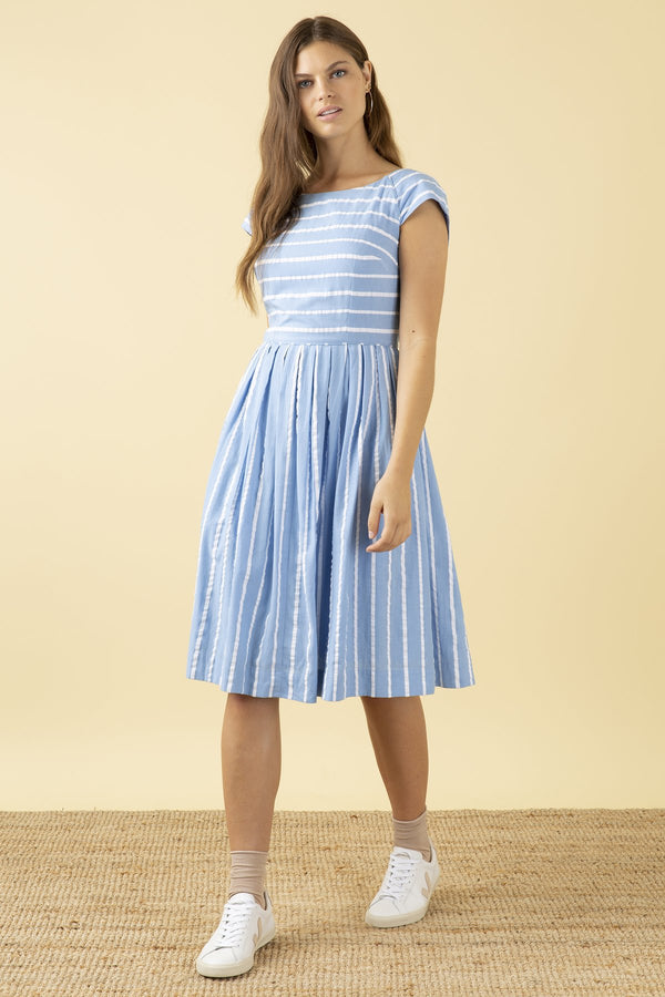 Emily and Fin Claudia Dress Seaspray Stripe PRE-ORDER
