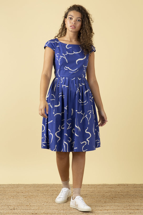 Emily and Fin Claudia Dress Brushstroke Dove PRE-ORDER