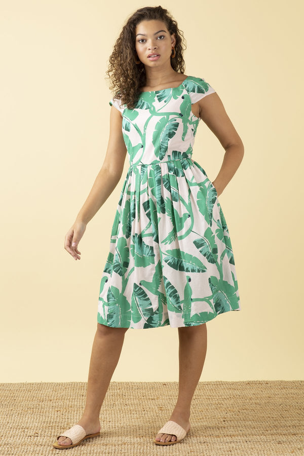 Emily and Fin Claudia Dress Botanical Parakeets PRE-ORDER