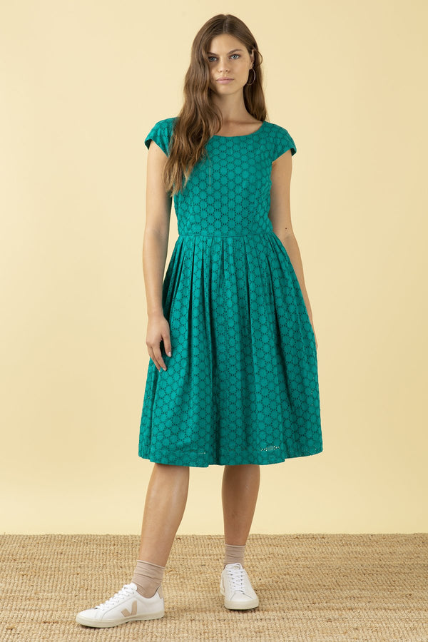 Emily and Fin Claudia Dress Jade Broderie Anglaise PRE-ORDER