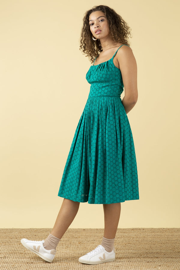 Emily and Fin Enid Dress Jade Broderie Anglaise PRE-ORDER