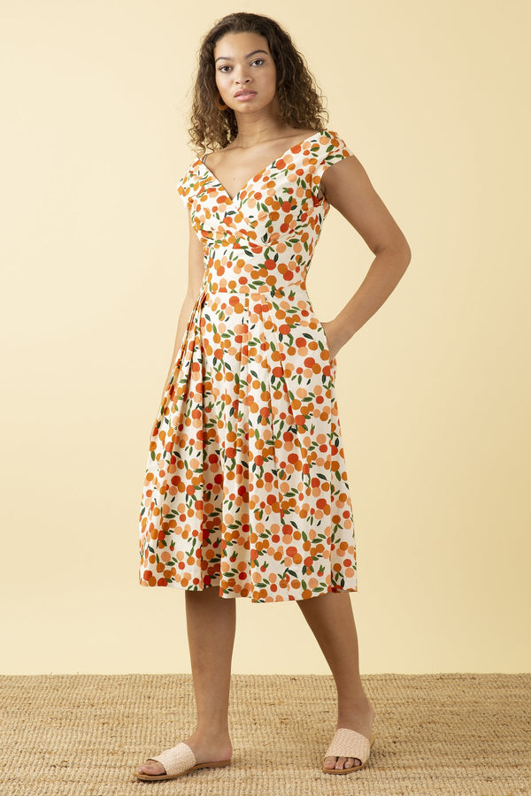 Emily and Fin Florence Dress Mini Summer Oranges PRE-ORDER
