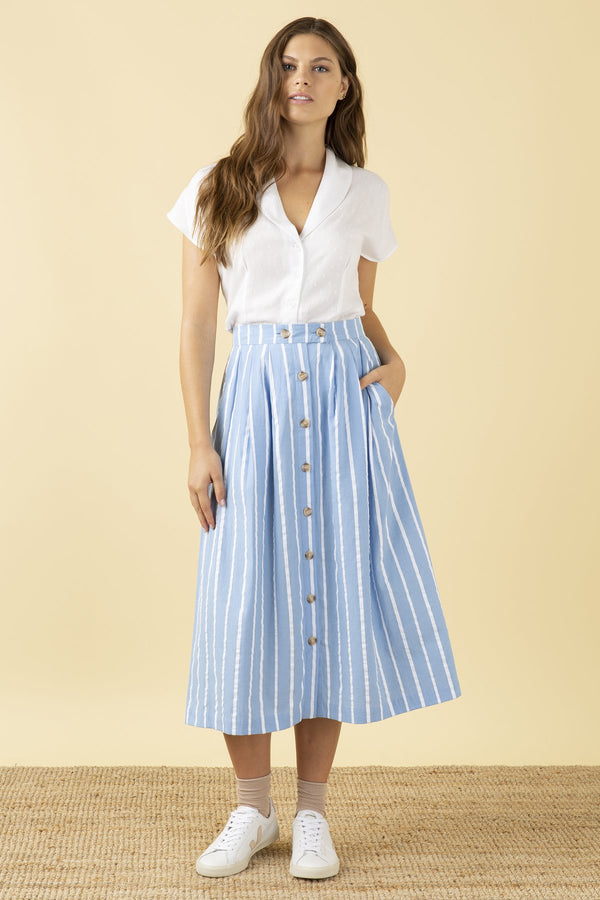Emily and Fin Isla Skirt Seaspray Stripe PRE-ORDER
