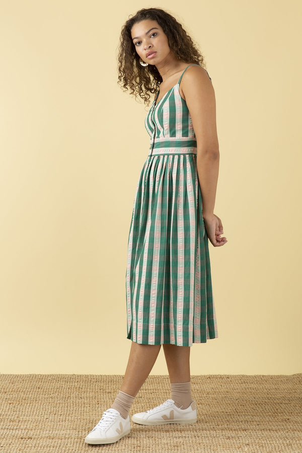 Emily and Fin Imogen Dress Botanical Plaid PRE-ORDER