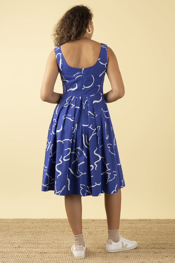 Emily and Fin Isobel Dress Brushstroke Dove PRE-ORDER