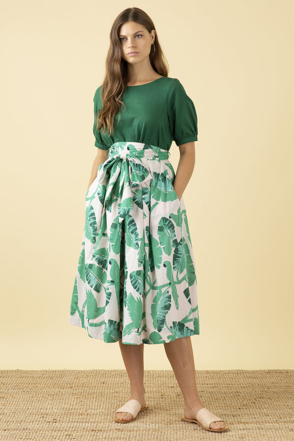Emily and Fin Jemima Botanical Parakeets Bow Skirt PRE-ORDER