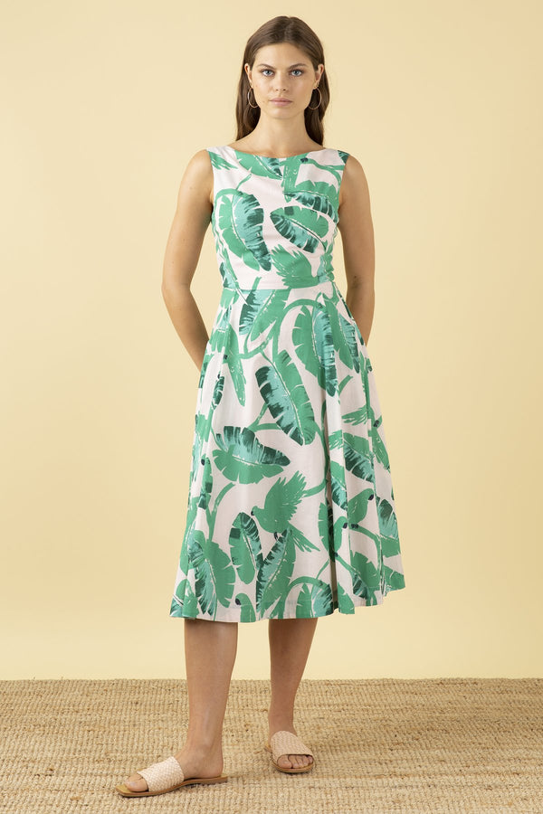 Emily and Fin Jasmine Dress Botanical Parakeets