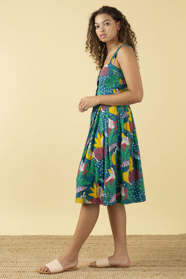 Emily and Fin Jenny Sleeveless Dress Riviera Poolside PRE-ORDER