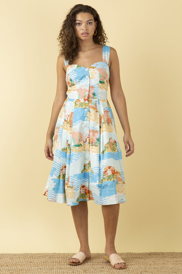 Emily and Fin Jenny Sleeveless Dress Sorrento Summer PRE-ORDER
