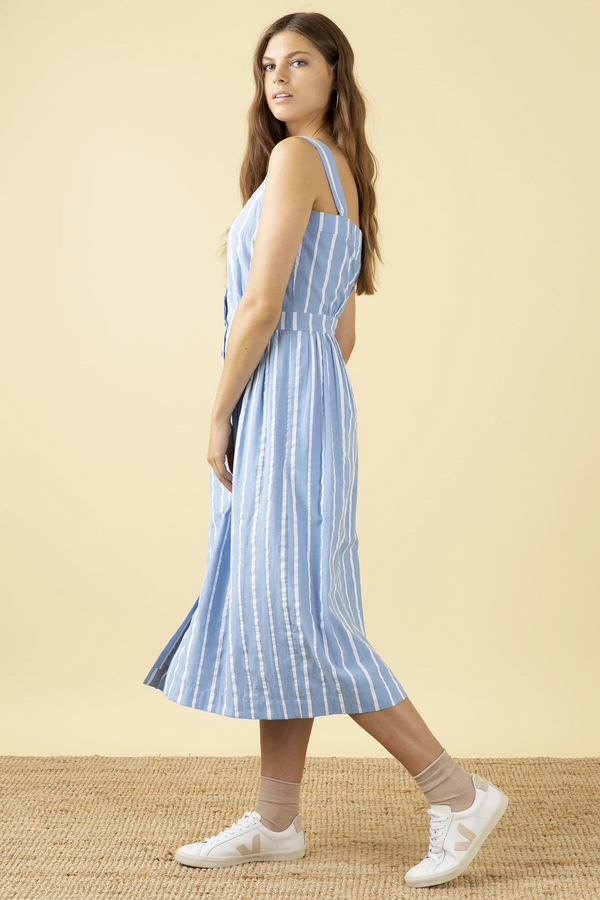 Emily and Fin Liana Dress Seaspray Stripe PRE-ORDER
