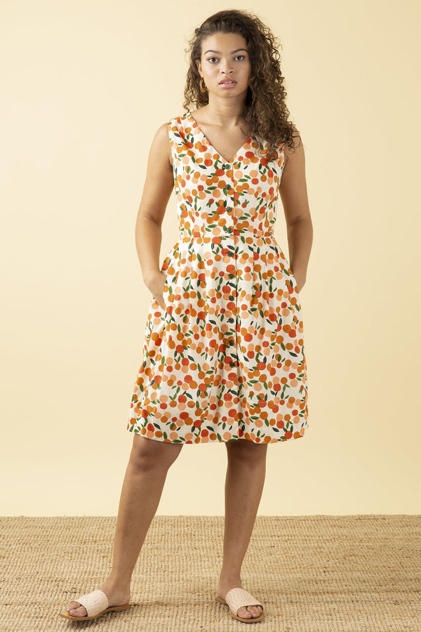 Emily and Fin Scarlett Dress Mini Summer Oranges