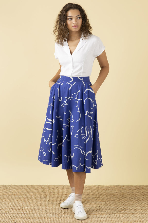 Emily and Fin Sandy Skirt Brushstroke Dove PRE-ORDER
