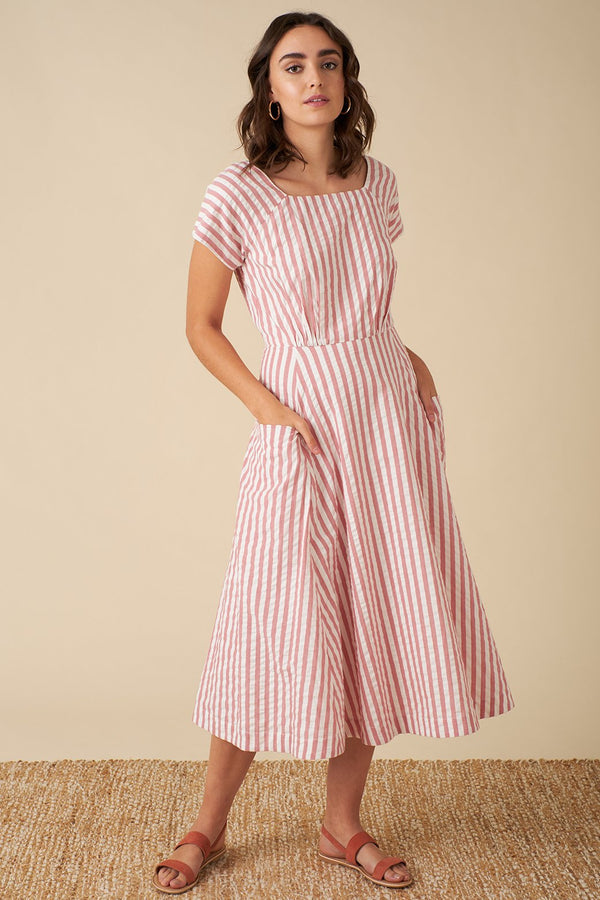 Emily and Fin Aubrey Dress Riviera Stripe PRE-ORDER