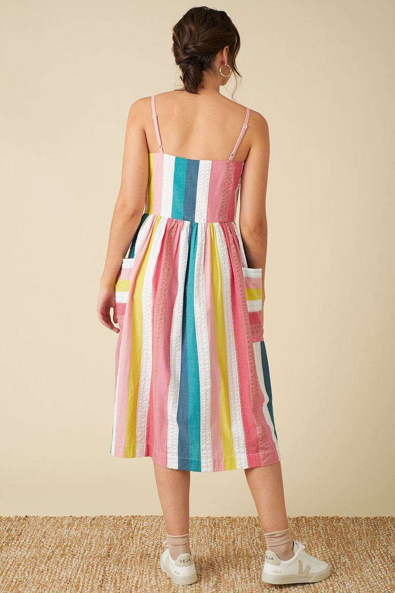 Emily and Fin Bree Dress Summer Rainbow Stripe