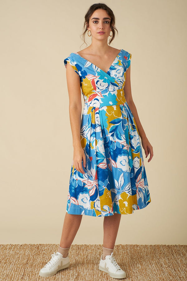 Emily and Fin Florence Dress Blue Asilah Floral PRE-ORDER