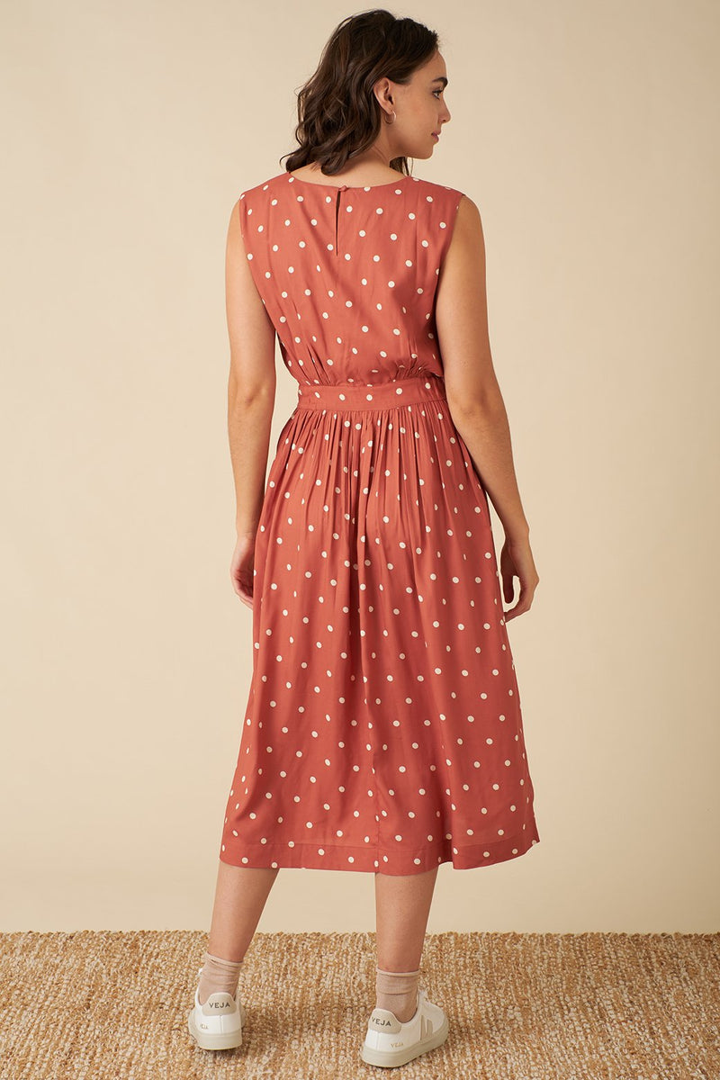 Emily and Fin Lea Dress Desert Rose Dot