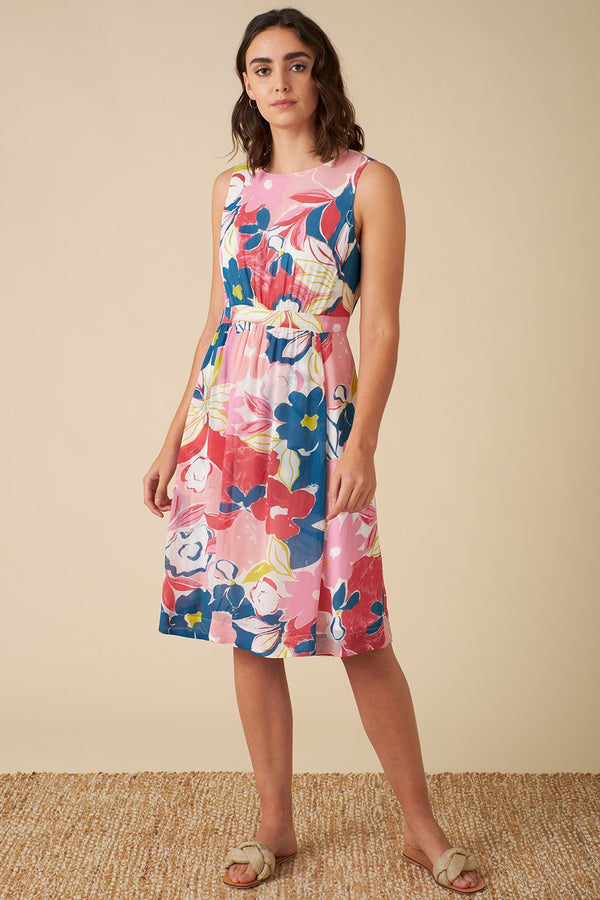 Emily and Fin New Lucy Dress Pink Asilah Floral PRE-ORDER