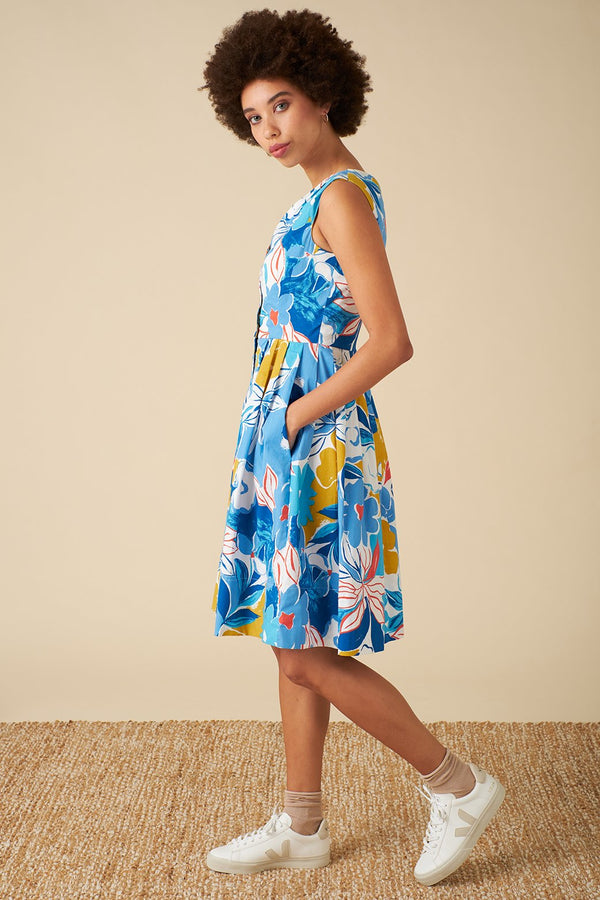 Emily and Fin Scarlett Dress Blue Asilah Floral