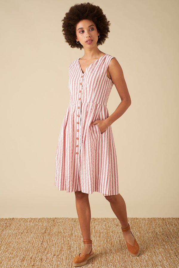 Emily and Fin Scarlett Dress Riviera Stripe PRE-ORDER