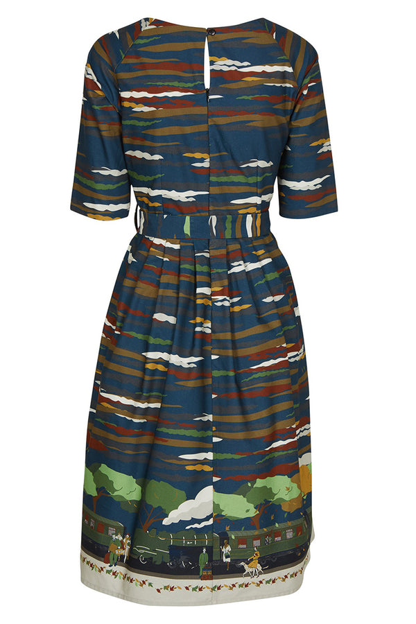 Palava Evelyn Dress Navy Flying Scotsman