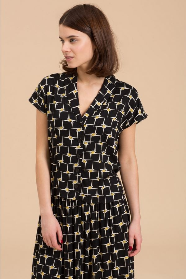Emily and Fin Graphic Gold Star Abigail Top and Skirt Sample Sale