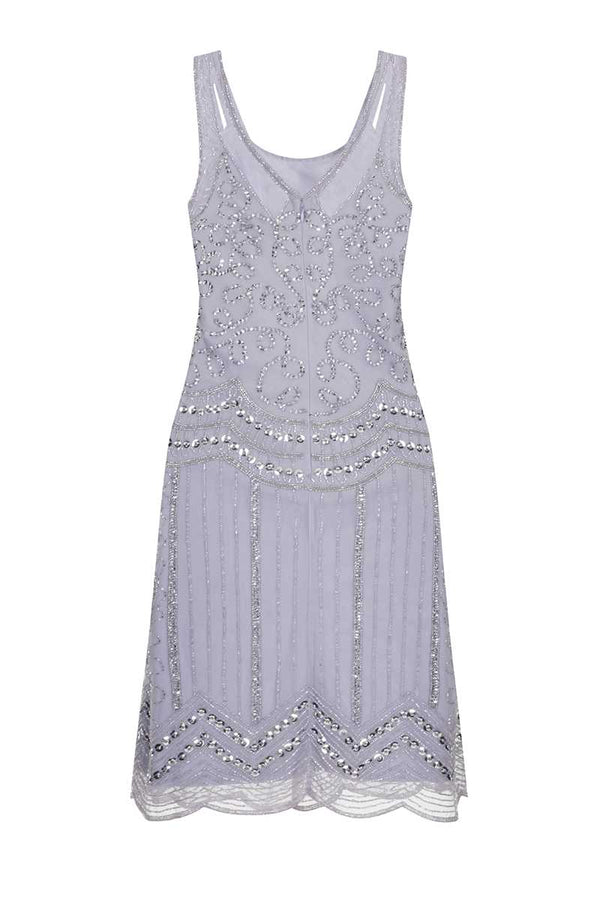 Frock and Frill Ziegfeld Embellished Gatsby Dress Lilac