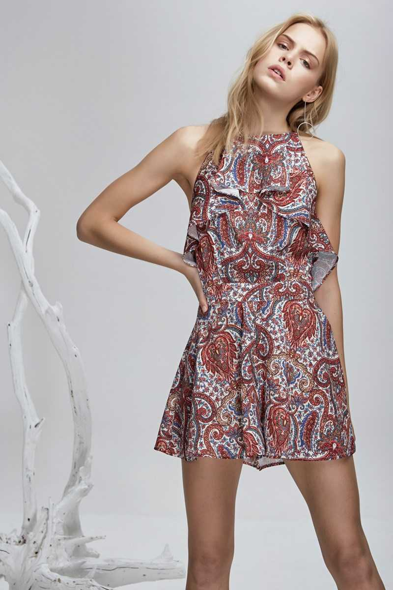 Finders Willow Playsuit Henna Print Small