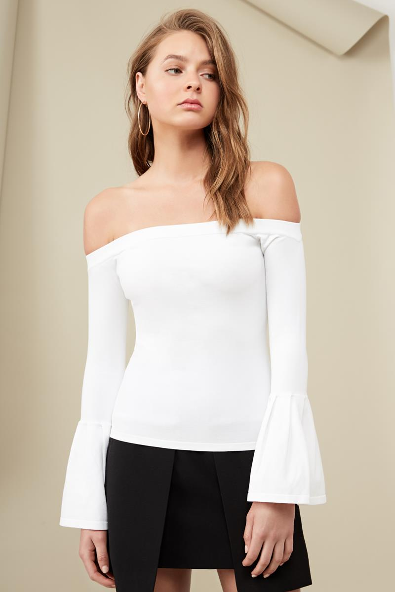 Finders Tori Knit Top Cloud