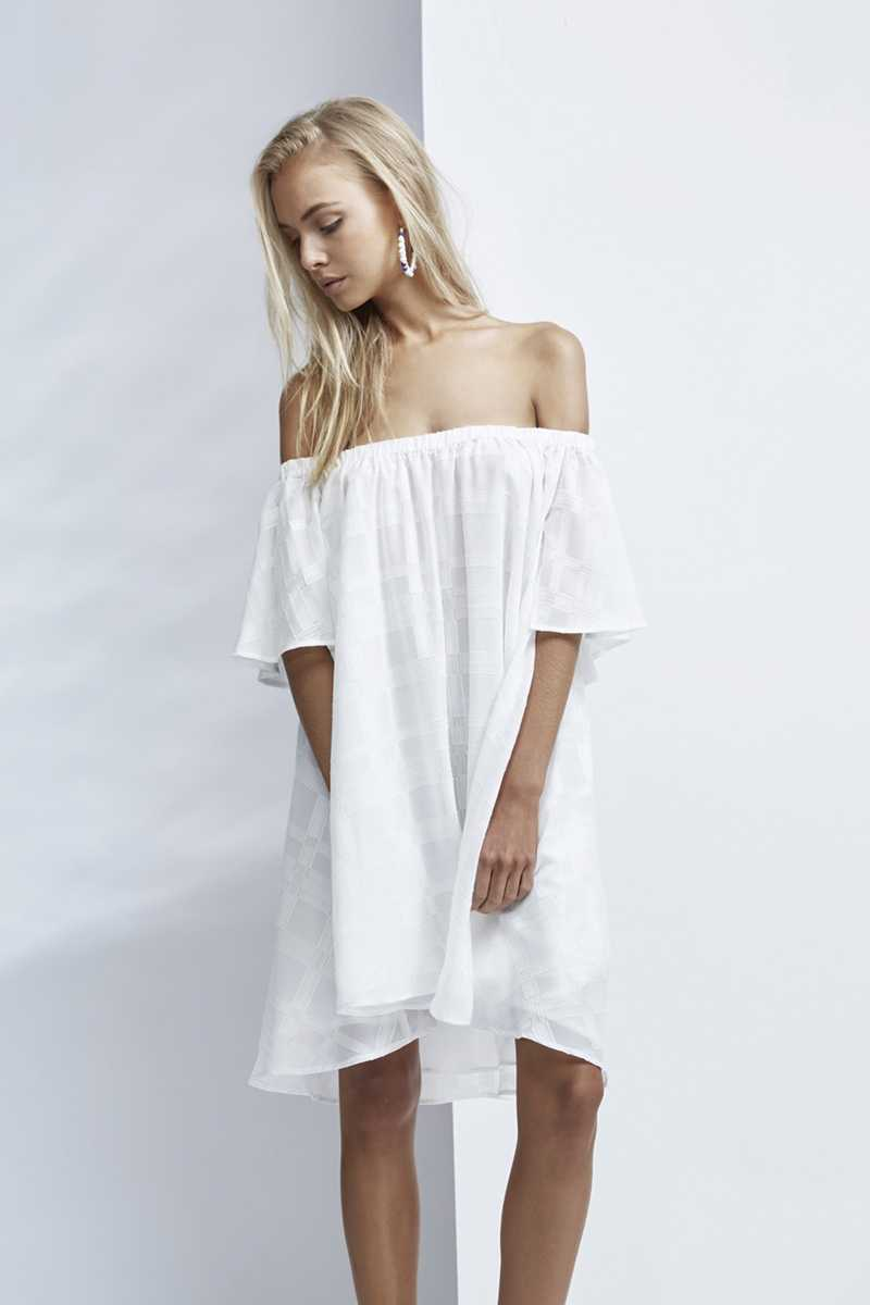Finders Better Days Ruffle Dress White