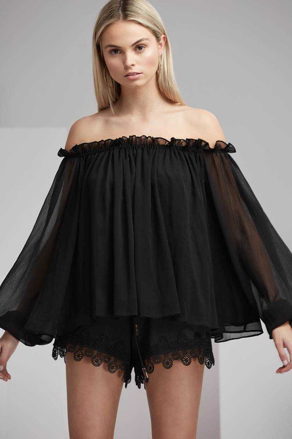 Finders Mateo Off Shoulder LS Top