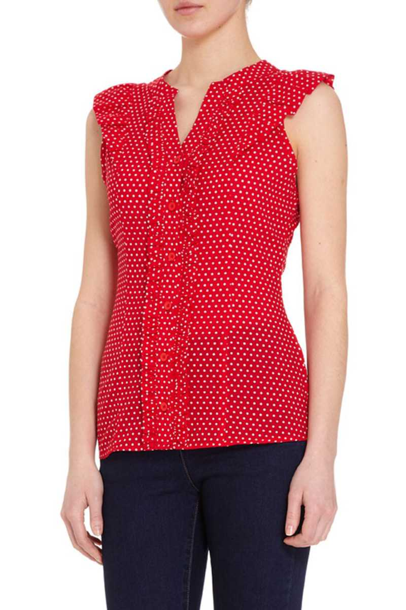 Fever London Kansas Polka Dot Vest Top