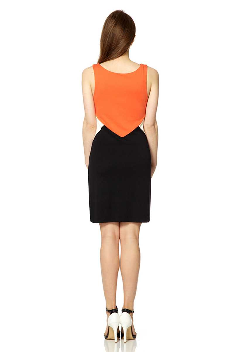Fever London Sleeveless Colourblock Deco Dress