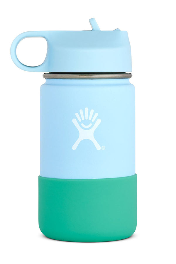 Hydro Flask Wide Mouth Kids Bottle Straw Lid Double Insulated Frost 354ml / 12oz