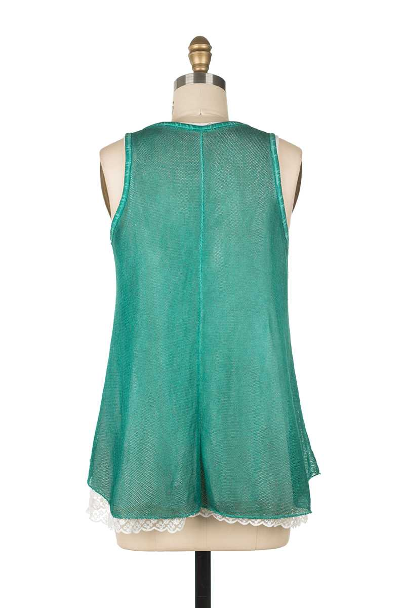 Adriana Knit Vest with Lace Slip - Talis Collection