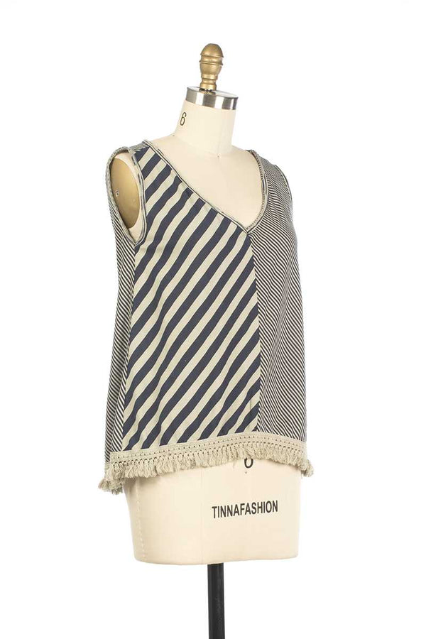 Adele Striped Vest - Talis Collection
