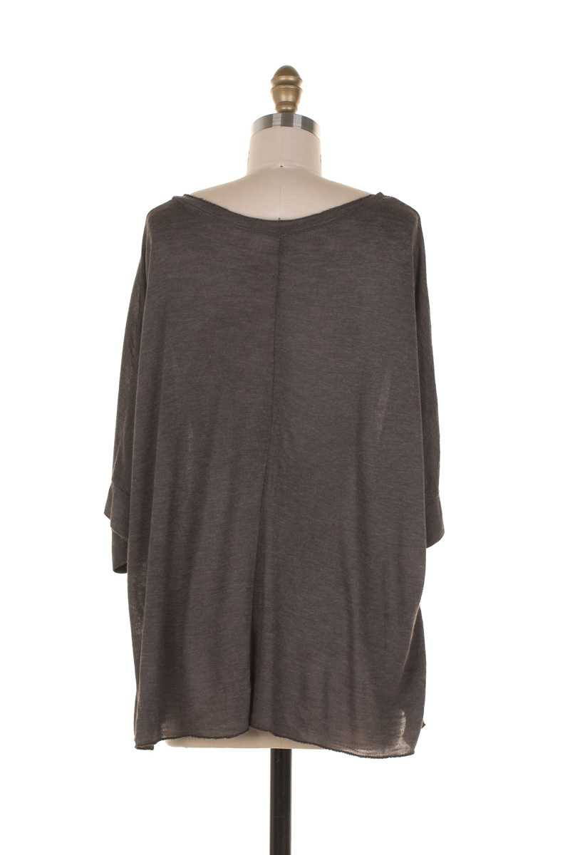 Elodia 3/4 Sleeve Oversized Knit Top - Talis Collection