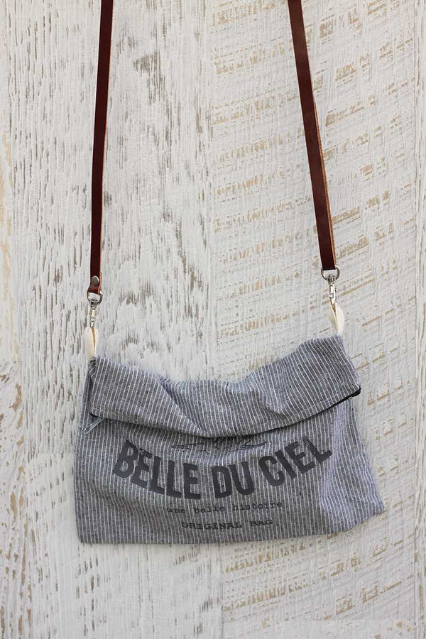 Juana Printed Shoulder Bag Gray