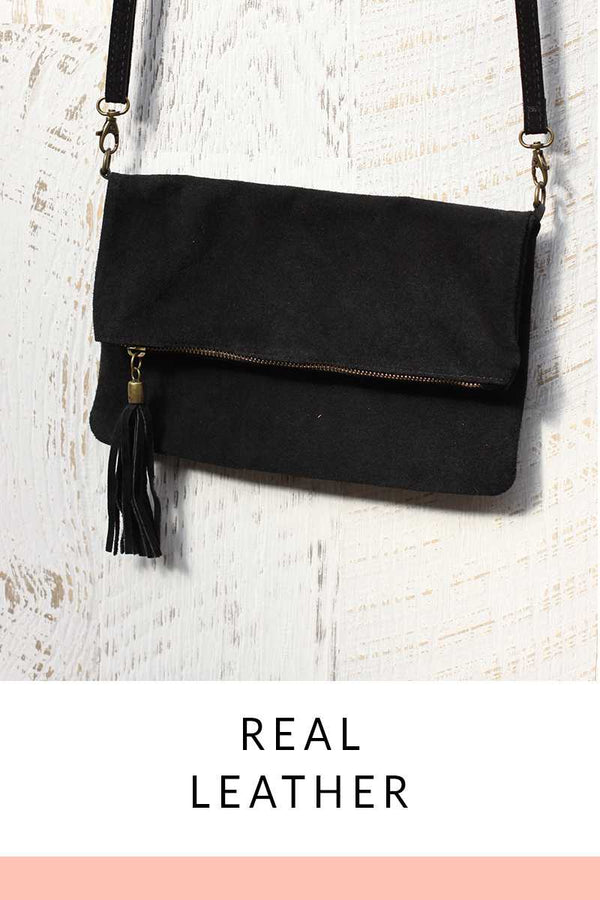 Nelia Leather Shoulder Bag Black