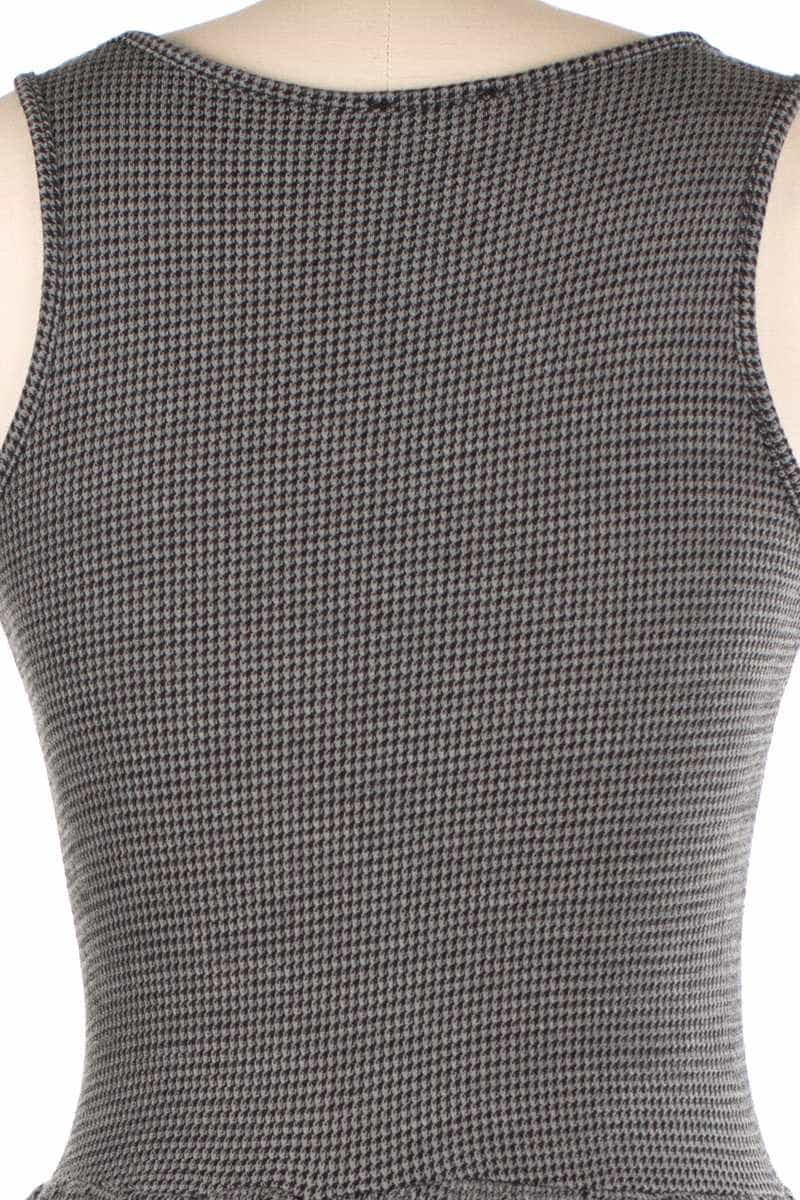 Maite Houndstooth Wool Blend Dress