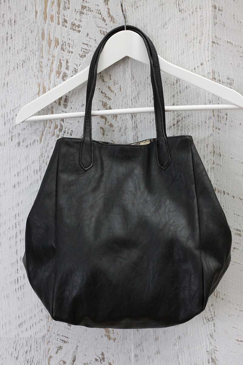 Nico Leather Shoulder Shopper Bag